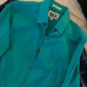 Express men's M extra slim fit button dress shirt